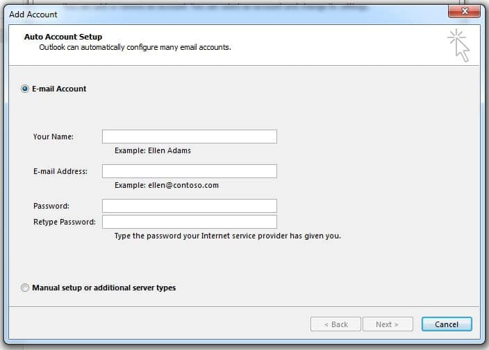 Add Hotmail to Microsoft Outlook 2013