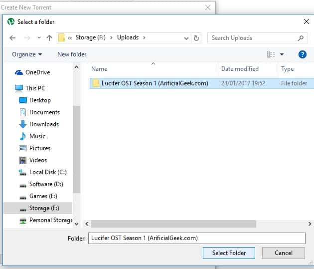 How To Create A Torrent With uTorrent 3