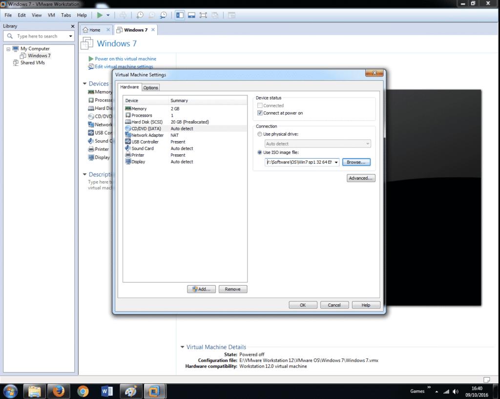 Install Windows 7 on VMware Workstation 12 (18)