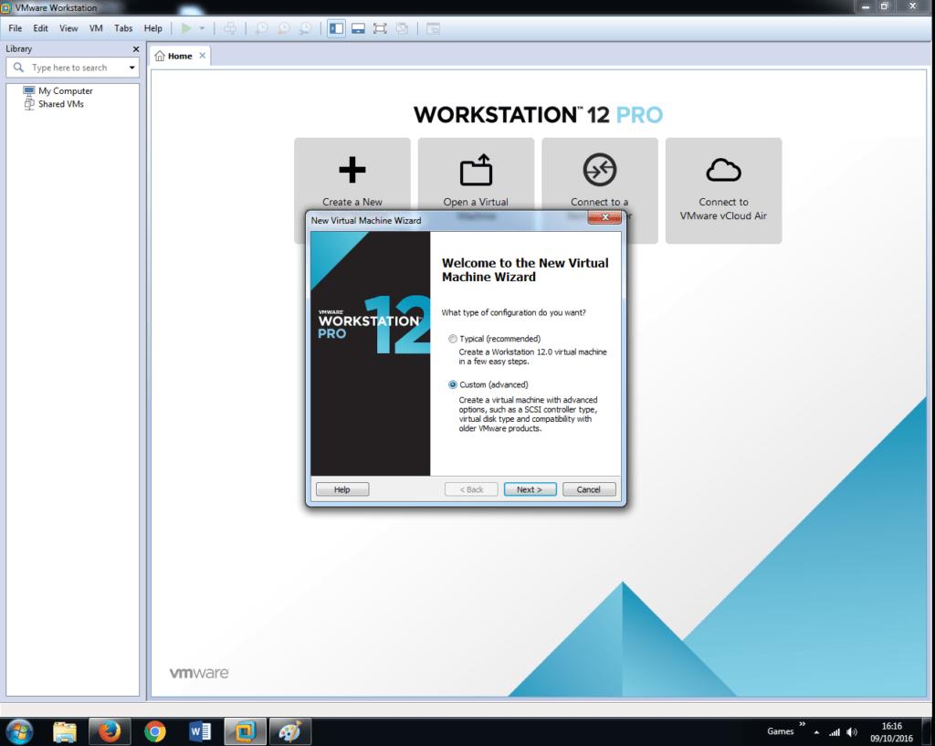 Install Windows 7 on VMware Workstation 12 (2)