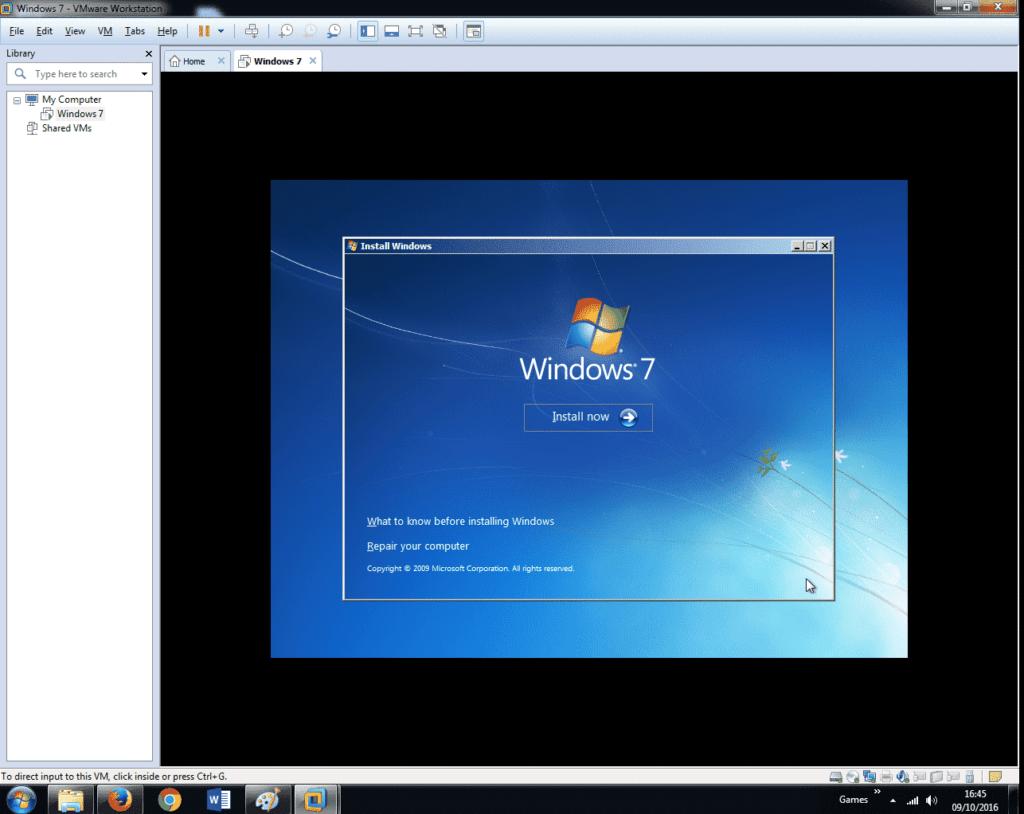 Install Windows 7 on VMware Workstation 12 (22)