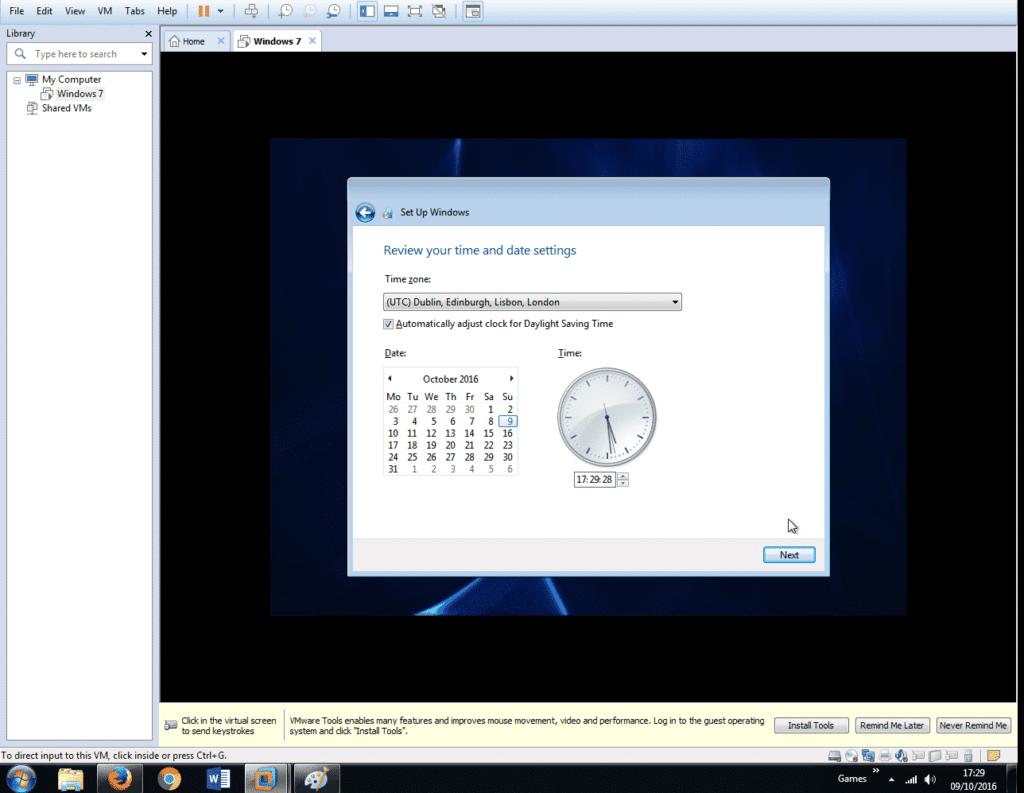 Install Windows 7 on VMware Workstation 12 (35)