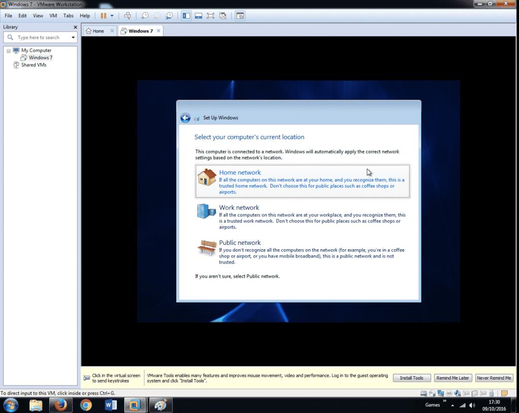 Install Windows 7 on VMware Workstation 12 (36)