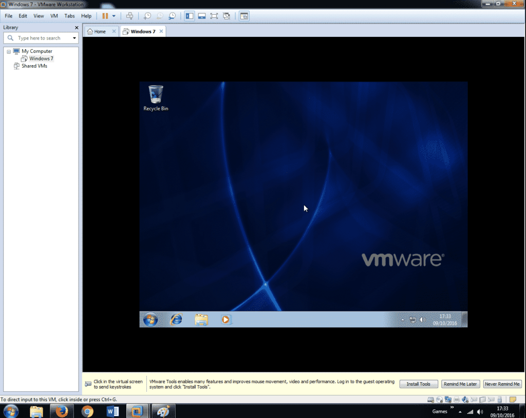 Install Windows 7 on VMware Workstation 12 (37)