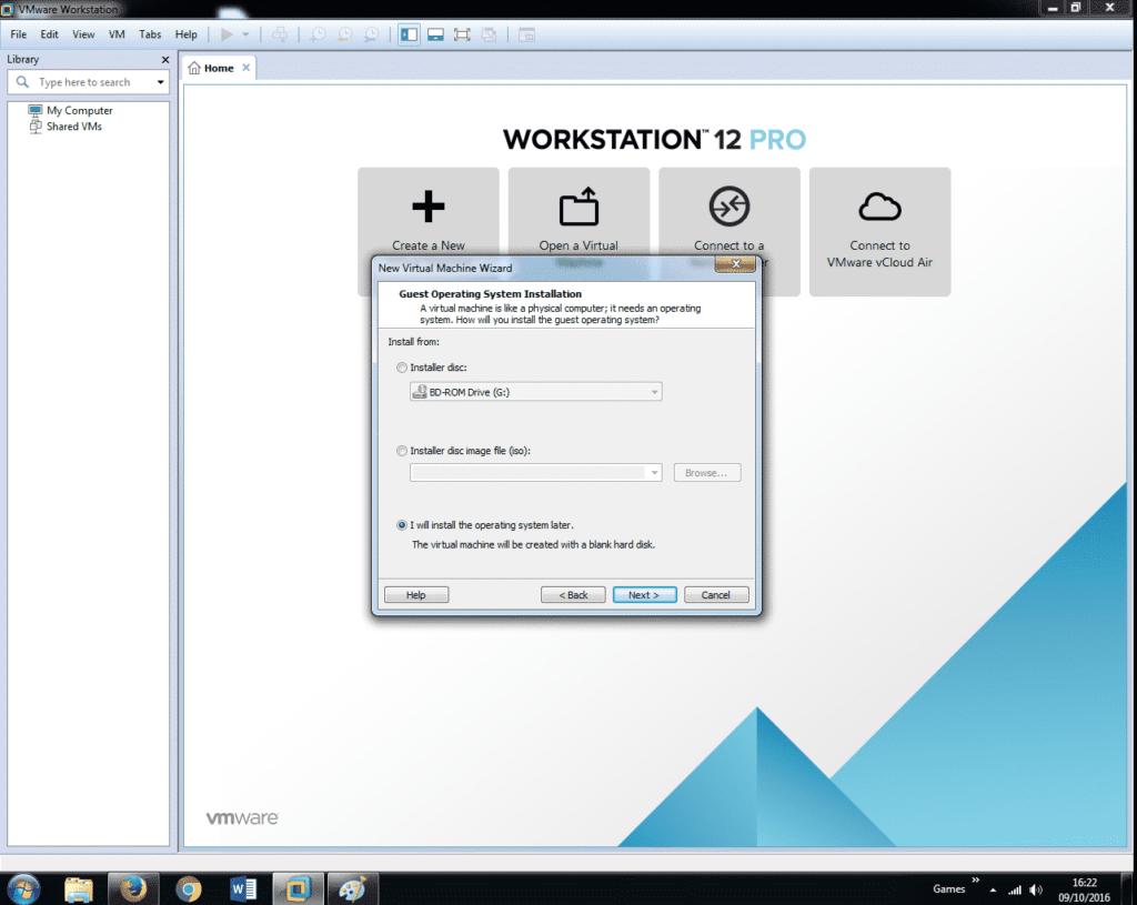 Install Windows 7 on VMware Workstation 12 (4)
