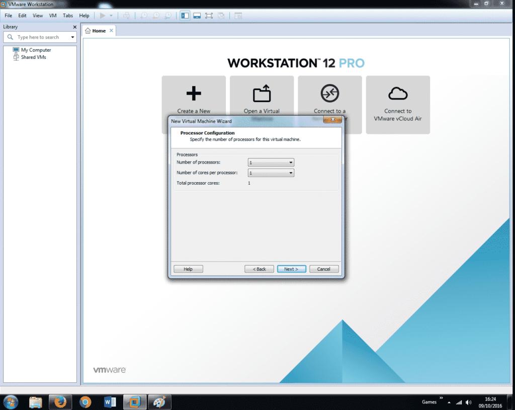 Install Windows 7 on VMware Workstation 12 (7)