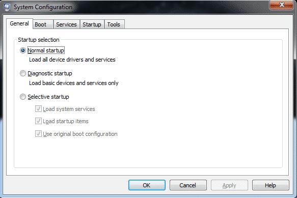 msconfig-1-Optimize Windows 7