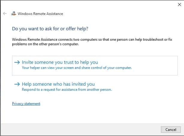 Remote Assistance Invitation 2