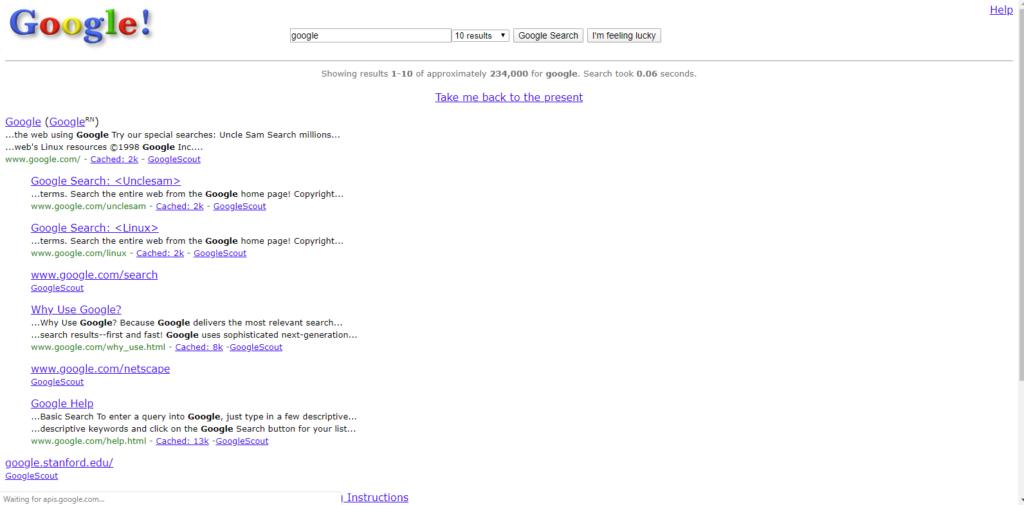 Google in 1988 Unknown cool internet tricks