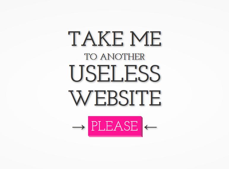 Take Me To The Useless Web - Any Random Website Image